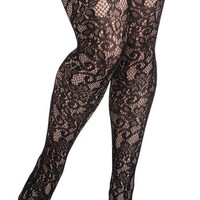 Intricately Exquisite Tights in Plus Size | Mod Retro Vintage Tights | ModCloth.com