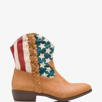 American Flag Cowboy Booties | FOREVER 21 - 2026467998