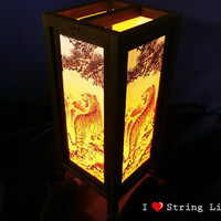 The Tiger Mulberry Paper Lantern Oriental Style for home decorate (Converter plug included)