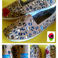 Hand Painted Toms  chettaz print kawaii by conchetts on Etsy