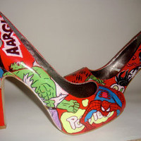 Marvel Comic Heels by Kdzines