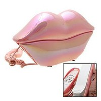 Gino Mouth`s Lips RJ11 Desk Home Telephone Like Pink Pearl Style: Electronics