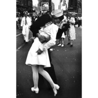 (24x36) Kissing On VJ Day (War`s End Kiss) Art Print Poster: Home & Kitchen