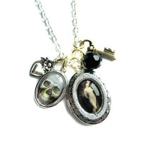 Death and the Maiden Locket Charm Necklace from Hoolala | Made By Hoolala | £32.00 | Bouf