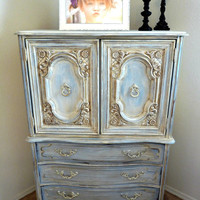 SOLD Romantic French Dresser by ABitOWhimsy on Etsy