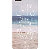 iPhone 5 &quot;Let&#x27;s Run Away&quot; Plastic Case - PRiNK Tech
