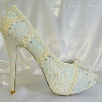 Something Blue baby blue lacey wedding shoes5 by tlccreationsuk