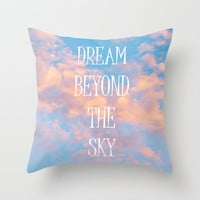 Dream Beyond the Sky... Throw Pillow by Lisa Argyropoulos | Society6