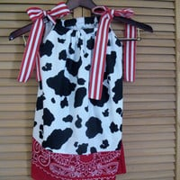 Cowgirl Pillowcase dress Jessie Inspired Size 3 by KikiCloset