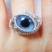 Sterling Silver Eyeball Ring by PassionateJewelry on Etsy