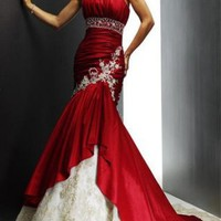 Mermaid Sweetheart Chapel Train Satin wedding dress for brides 2012 Style(WDS0117) [WDS0117] - $180.99 :