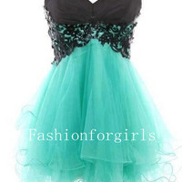 2013 New Fantastic Lace Ball Gown Sweetheart Mini Prom Dresses