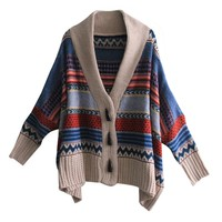 LookbookStore Vintage Angora Woman Stripe Sweater Knitwear