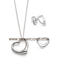 Shopping Cheap Elsa Peretti Open Heart Pendant in Sterling Silver At Tiffanyco925.com - Discount Tiffany Setting