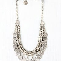 Free People Pewter Short Chain Collar
