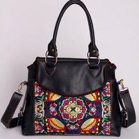 Tribal Embroidered Weekender