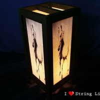 The Mustang Mulberry Paper Lantern Oriental Style for home decorate (Converter plug included)