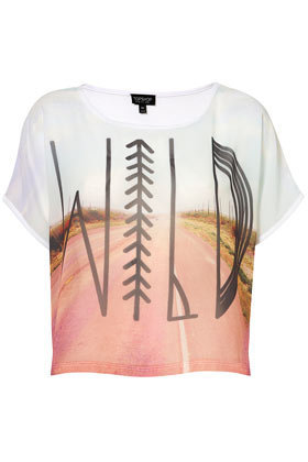 Wild Photographic Tee - Tees & Tanks - Jersey Tops - Clothing - Topshop