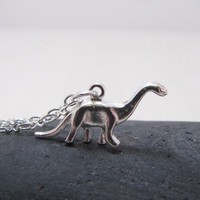 Dinosaur Necklace Brontosaurus Jewelry RAWR by CuteAbility on Etsy