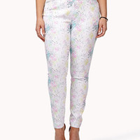 Watercolor Splattered Skinny Jeans