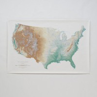 Topographic USA Wall Map | Office | Home & Office