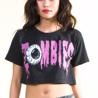 Zombies Graphic Crop Top 20% Off! by numbera - Chictopia