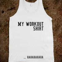My workout shirt