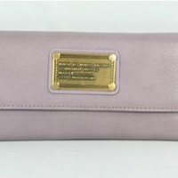 Amazon.com: Marc by Marc Jacobs Classic Q New Flap Wallet,Lavender,one size: Shoes