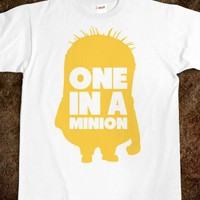 One in a Minion - Fashionista - Skreened T-shirts, Organic Shirts, Hoodies, Kids Tees, Baby One-Pieces and Tote Bags