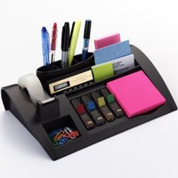 Post-it Desktop Organizer, 10-1/4 x 6-3/4 x 2-3/4-Inches, Black: Office Products