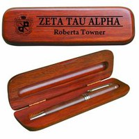 Zeta Tau Alpha Wooden Pen Set