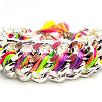 Chunky Twister Bracelet Designer Bracelet with by GetShackled