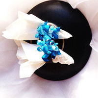 Korker Ribbon Napkin Ring Holder Set