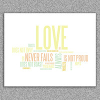 Wall art print for Easter Spring Love is by RedLetterPaperCo