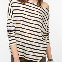 Urban Outfitters - BDG Striped Oversized Boatneck Tee