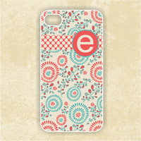 RUBBER Monogrammed iPhone 5 Case - Colorful Fireworks Design Monogram iPhone - iPhone Case, iPhone 5 Cover, Monogram iPHONE 5 (iM5095)