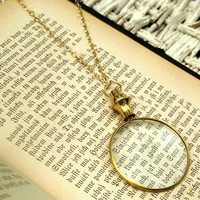 Monocle Necklace - $27.00 : RagTraderVintage.com, Handmade Indie Retro Accessories