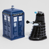 Doctor Who TARDIS vs. Dalek Salt & Pepper Shakers