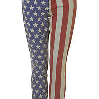 American Flag Jeans Size 12 Topshop RARE SOLD OUT WORN ONCE