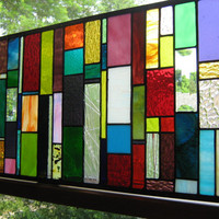 Stained Glass Multi Color and Sparkling by stanfordglassshop