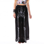 Them Bones Maxi Skirt  Black