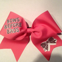 Bows Before Bros Cheer Bow by KissMyBowTX on Etsy