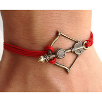 THE HUNGER GAMES Bow and Arrow Survival Bracelet by pier7craft