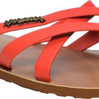 Volcom Girls New School Red Creedler Sandals at Zumiez : PDP