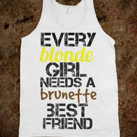 Best Friends Blonde Brunette - Protego - Skreened T-shirts, Organic Shirts, Hoodies, Kids Tees, Baby One-Pieces and Tote Bags