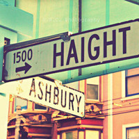 San Francisco Photo Haight Ashbury Sign Haight by SSCphotography