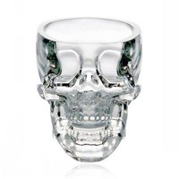 accessoryinlove  Skull-shaped Crystal Glass Wine Cup
