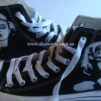 Hand Painted Marilyn Monroe Converse Shoes COP30 by MYDIAMONTE
