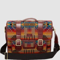 PENDLETON SATCHEL TAN WOOL / LEATHER