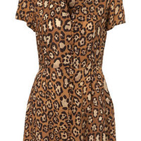 Animal Button Front Shirtdress - Dresses - Clothing - Topshop